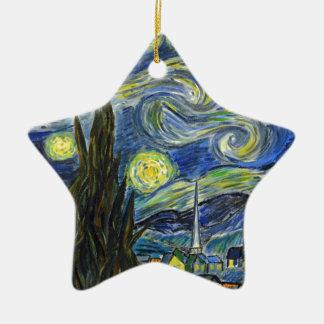 Sternenklare Nacht, Van Gogh Keramik Ornament