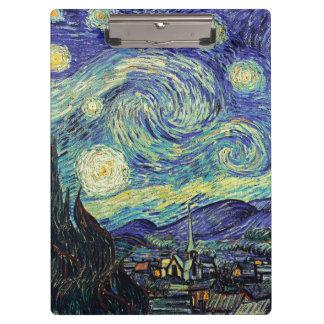 Sternenklare Nacht Van Gogh Klemmbrett