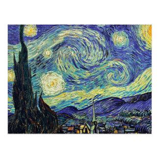 Sternenklare Nacht Van Gogh Postkarte