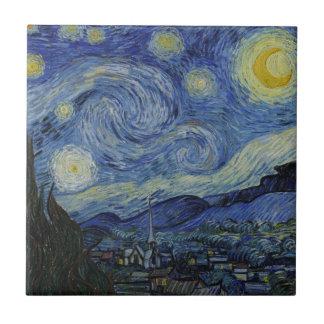 Sternenklare Nacht Vincent van Gogh Fliese