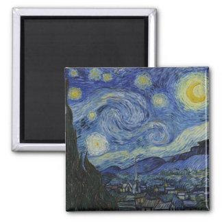 Sternenklare Nacht Vincent van Gogh Quadratischer Magnet