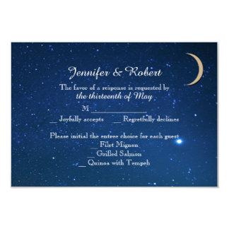 Sternenklare Nachthochzeits-Wartekarte 8,9 X 12,7 Cm Einladungskarte