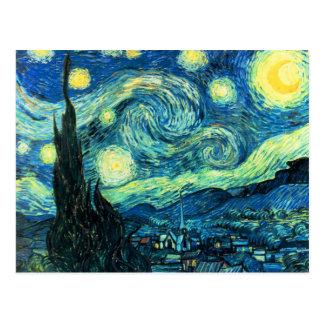 Sternenklare Nachtkunst Postkarte