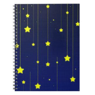Sternenklare Nachtnotizbuch Notizblock