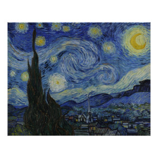 Sternenklare Nachtplakat Van Gogh Poster