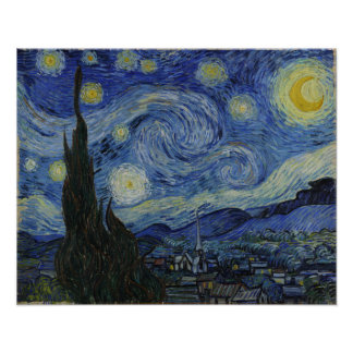 Sternenklare NachtVincent van Gogh-Malen Poster