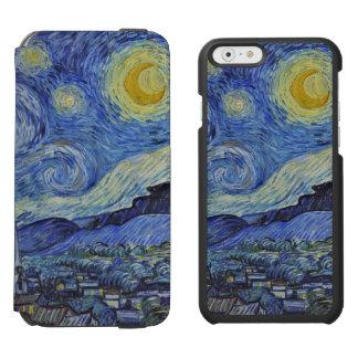 Sternenklare NachtVincent van Goghs GalleryHD Incipio Watson™ iPhone 6 Geldbörsen Hülle