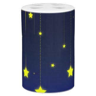 Sternenklare Nachtzahnbürste-Halter u. Seifenspender & Zahnbürstenhalter