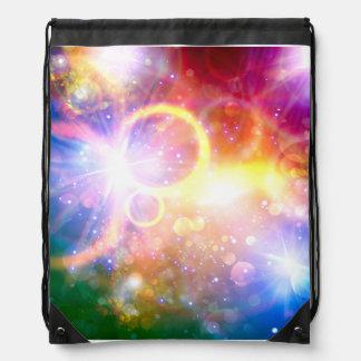 Sternexplosion-Galaxiebunter Drawstring-Rucksack Turnbeutel