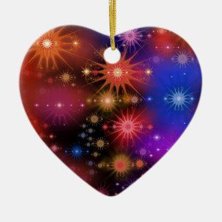 Sternhaufen Keramik Herz-Ornament