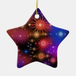 Sternhaufen Keramik Ornament