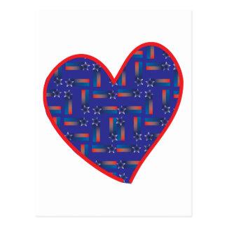 Sternschnuppen-Herz Postkarte