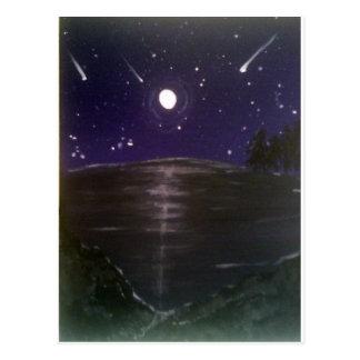 Sternschnuppen Postkarte