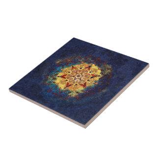 Sternshine-Gold und blaue Keramik-Kunst-Fliese Keramikfliese