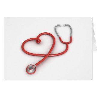Stethoskop und Herz Karte