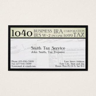 Steuer-Vorbereiter-Buchhalter-Visitenkarte Visitenkarte