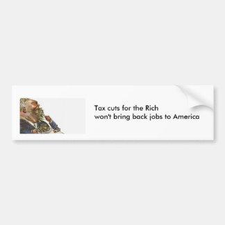 Steuersenkungen für die Reichen Autoaufkleber