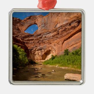 Stevens-Bogen - Escalante-Fluss- Utah Silbernes Ornament