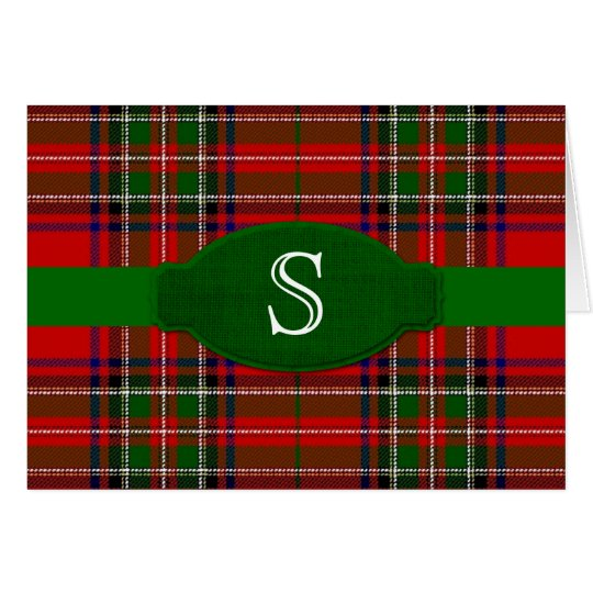Stewarttartan-Monogramm Notecard Mitteilungskarte