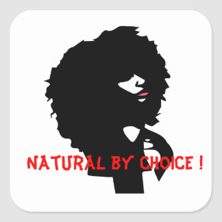 Sticker Carré Illustration Afro naturelle de cheveux