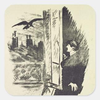 Sticker Carré Illustration de Manet   pour 'le Raven