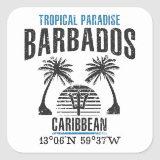Sticker Carré Les Barbade
