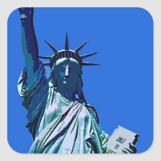 Sticker Carré Statue d'autocollant de carré d'illustration de