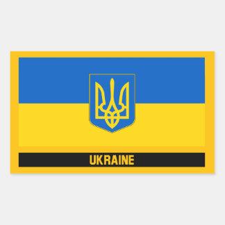 Sticker Rectangulaire Drapeau de l'Ukraine