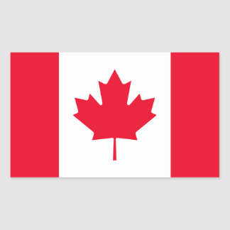 Sticker Rectangulaire Drapeau du Canada