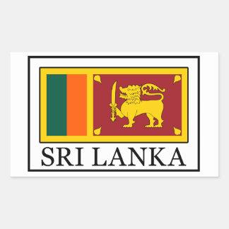 Sticker Rectangulaire Le Sri Lanka