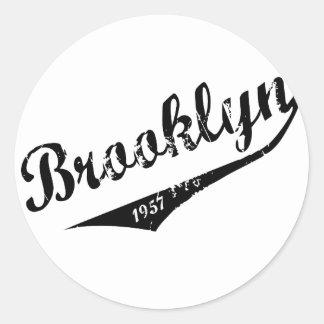 Sticker Rond Brooklyn 1957