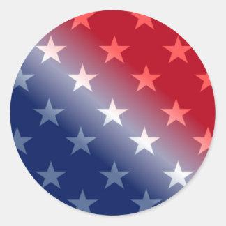 Sticker Rond Illustration de profil sous convention astérisque