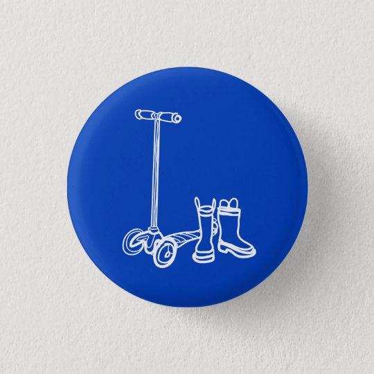 Stiefel, die Knopf scoot Runder Button 3,2 Cm