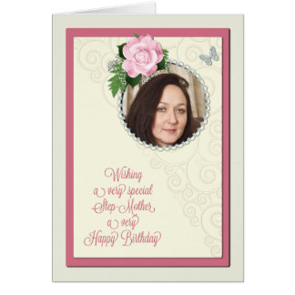 Stiefmutter, addieren ein Bild, Geburtstagskarte Karte