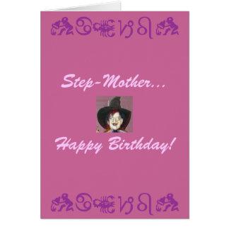 Stiefmutter…, alles Gute zum Geburtstag! Karte