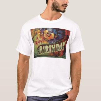 Stiefmütterchenpansy-Regenbogen-Blumen mit Blumen T-Shirt