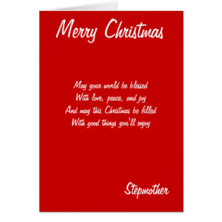 Stiefmutterkarten der frohen Weihnachten Karte