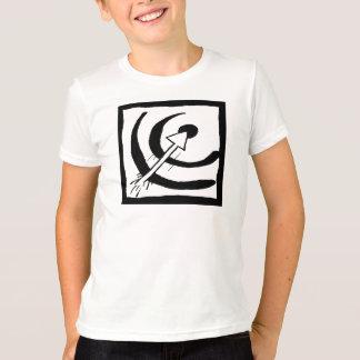 Stier-Augen-Ziel-Pfeil-Schwarzweiss-Gekritzel 02 T-Shirt