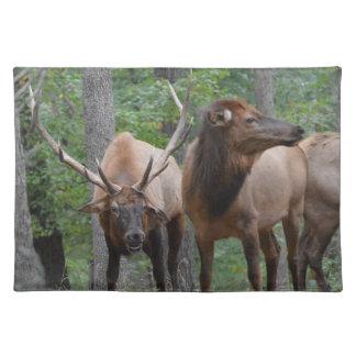 Stier-Elche beim Furche-Lächeln Tischset