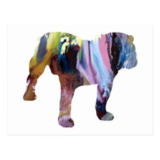 Stier-Hund Postkarte