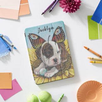 Stier-Hundschmetterlings-Fee-Flügelkunstdruck iPad Pro Cover