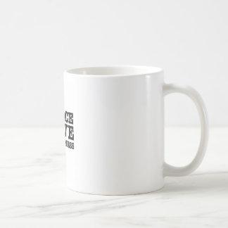 Stiften Sie Frieden, Liebe und Glück an Kaffeetasse
