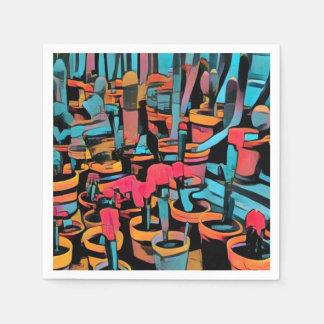 Stilisierte Kaktus-Topf-Papierserviette Papierserviette
