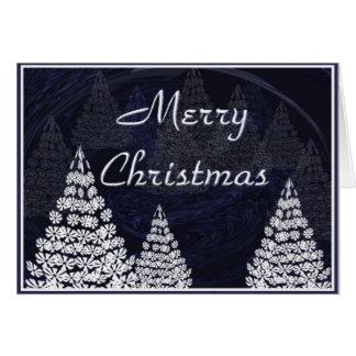 Stilisierte Weihnachtsbäume Karte