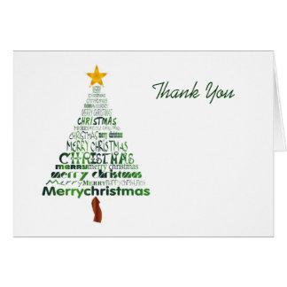 Stilisierter Weihnachtsbaum danken Ihnen zu Mitteilungskarte