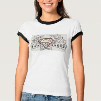 Stilisiertes | Beschaffenheits-Logo des Supermann- T-Shirt