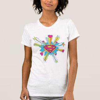Stilisiertes | Rosa des Supermann-mit Herz-Logo T-Shirt