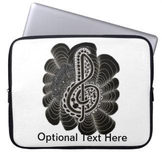 Stilisiertes Weiß auf schwarzem dreifacher Computer Schutzhülle