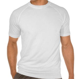 Stilisiertes Weiß auf schwarzem dreifacher T-Shirt