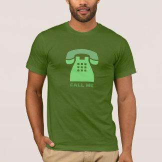 Stilistischer ikonenhafter grüner Telefon-Anruf T-Shirt